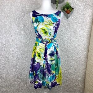 Muse Fit & Flare Floral Dress 6